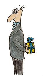 Mr Pickleberry brings a present