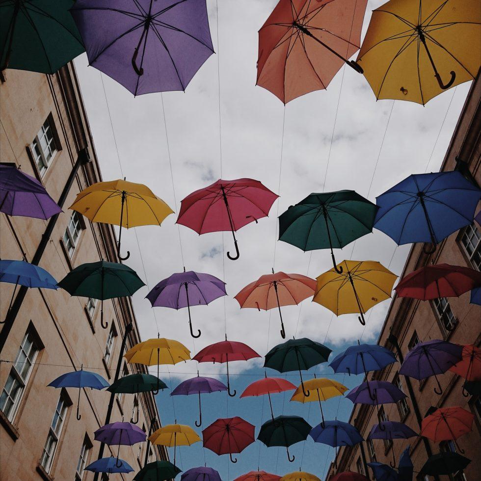 Umbrella installation, Bath